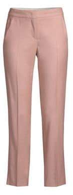 Max Mara Tony Flat-Front Slim Wool Pants