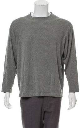 Malo Rib Knit Trim Crew-Neck Sweater