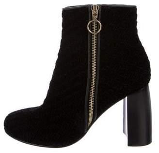 Stella McCartney Woven Velvet Ankle Boots Black Woven Velvet Ankle Boots