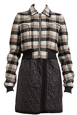 Rick Owens Women's Bable Cropped Plaid Wool Jacket