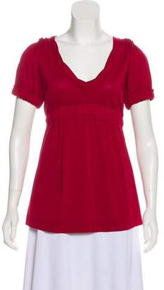 Marc by Marc Jacobs V-Neck Short Sleeve Top