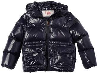 Il Gufo Hooded Nylon Laqué Down Jacket
