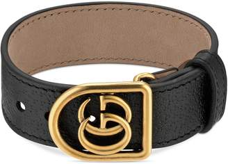 Gucci Double-G Leather Belt Bracelet