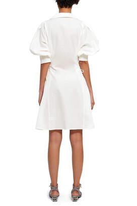 Opening Ceremony Textured Lace Up Shirtdress