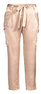 L'Agence Women's Roxy Silk Cargo Crop Pants