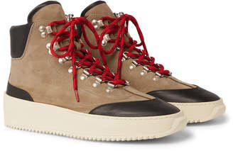 Fear Of God Nubuck and Leather High-Top Sneakers - Men - Neutrals