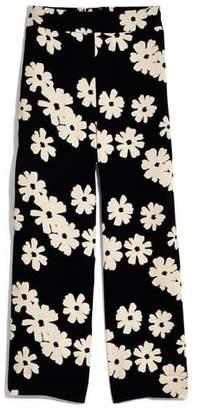 Madewell Huston Ikat Floral Pull-On Crop Pants