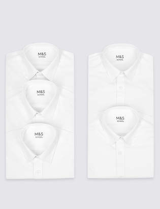 Marks and Spencer 5 Pack Girls' Easy to Iron Blouses