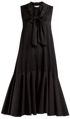 J.W.Anderson Pussy Bow A Line Dress - Womens - Black
