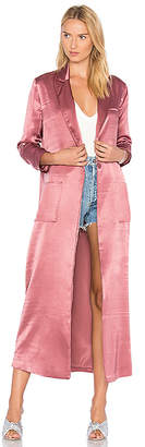 House of Harlow 1960 x REVOLVE Cheryl Maxi Coat in Rose $210 thestylecure.com