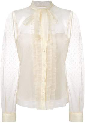 RED Valentino ruffled lace blouse