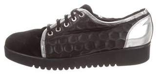 Aquatalia Leather Low-Top Sneakers