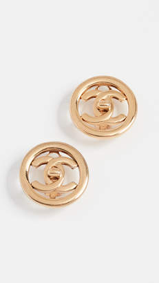 Chanel What Goes Around Comes Around Circle Earrings