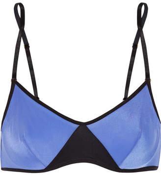 Elle Macpherson Body - Vee Two-tone Stretch-jersey Underwired Bra - Blue