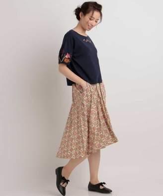 Jocomomola (ホコモモラ) - Jocomomola FLOR MAGICA フラワープリントスカート