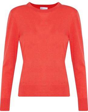 RED Valentino Embroidered Cashmere And Silk-blend Sweater