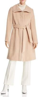 Cole Haan Belted Textured Coat