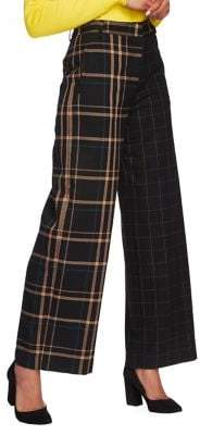 1 STATE 1.State Mixed-Print Wide-Leg Pants