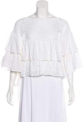 Chanel Tiered Ruffle Top w/ Tags