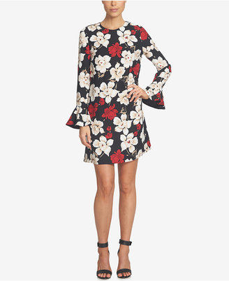 CeCe Ruffled Floral-Print Shift Dress $129 thestylecure.com