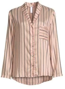 Hanro Malie Striped Pajama Shirt