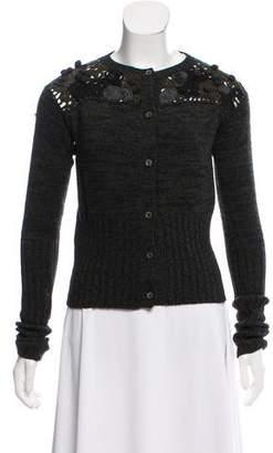 Prada Crocheted Wool & Cashmere Cardigan