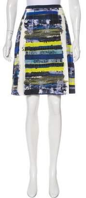 Akris Punto Printed Pleated Skirt