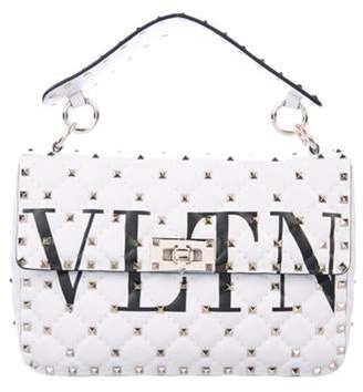 Valentino Medium Rockstud Spike Chain Bag w/ Tags White Medium Rockstud Spike Chain Bag w/ Tags
