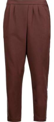 Brunello Cucinelli Pleated Cotton-Blend Jersey Tapered Pants