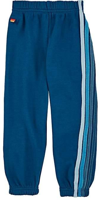 Kids' Striped Cotton-Blend Fleece Sweatpants