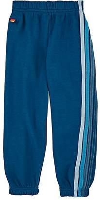 Aviator Nation Kids' Striped Cotton-Blend Fleece Sweatpants