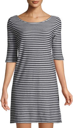 Free People Frenchie Striped Half-Sleeve T-Shirt Dress