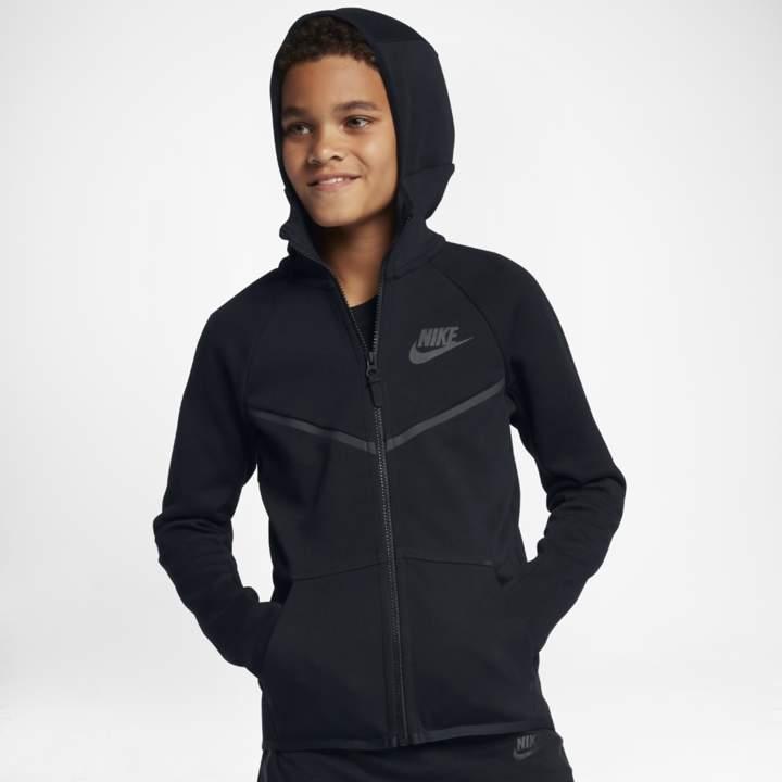 Nike Sportswear Tech Fleece Windrunner Big Kids' (Boys') Full Zip Hoodie