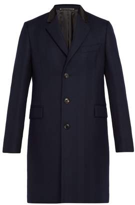 Paul Smith Wool Herringbone Overcoat - Mens - Navy