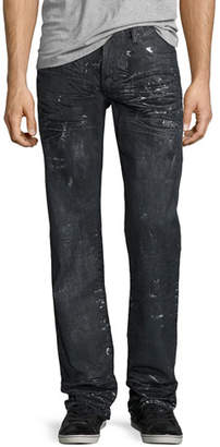 PRPS Barracuda Proton Splatter Denim Jeans, Black $375 thestylecure.com