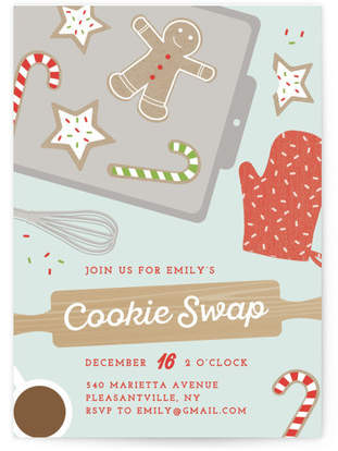 Cookie swap Holiday Party Invitations