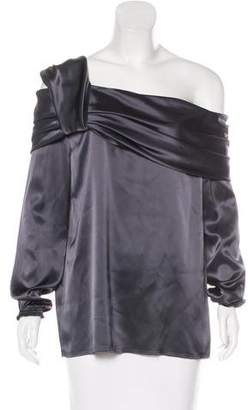 Baja East Satin Off-The-Shoulder Top w/ Tags