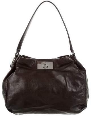 Celine Metallic Leather Hobo