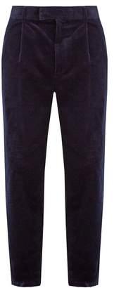 Raey - Elephant Corduroy Trousers - Mens - Navy