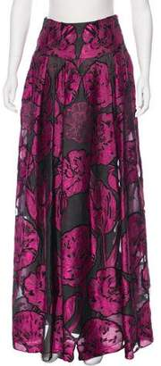 Temperley London Silk-Blend Maxi Skirt