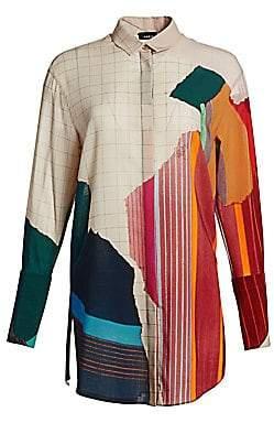 Akris Women's Multicolor Print Button-Down Shirt