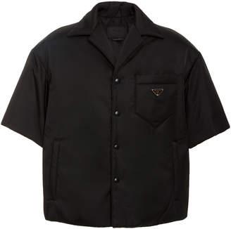 Prada Logo-Appliquéd Nylon-Gabardine Shirt
