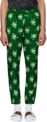 Gucci Green Floral Logo Lounge Pants