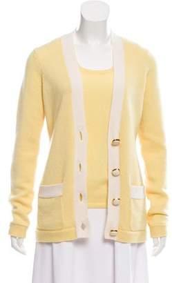 Kinross Cashmere Knit Button-Up Cardigan