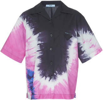 Prada Tie-Dye Cotton Shirt