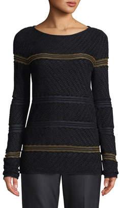 St. John Velvet Wave Knit Sweater