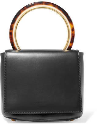 Marni Pannier Leather Tote - Black