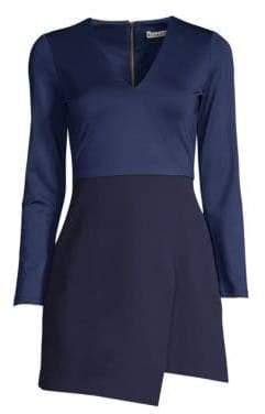 Alice + Olivia Women's Evette Asymmetrical Dress - Sapphire - Size 2