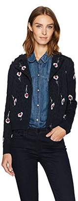 Armani Jeans Women's All Over Jacquard Moto Jacket