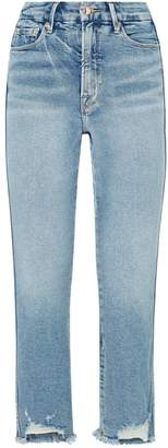 Good American Frayed Straight Curve Jeans